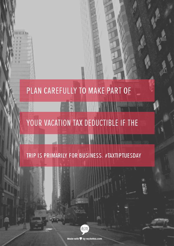 recite-deduct vacation